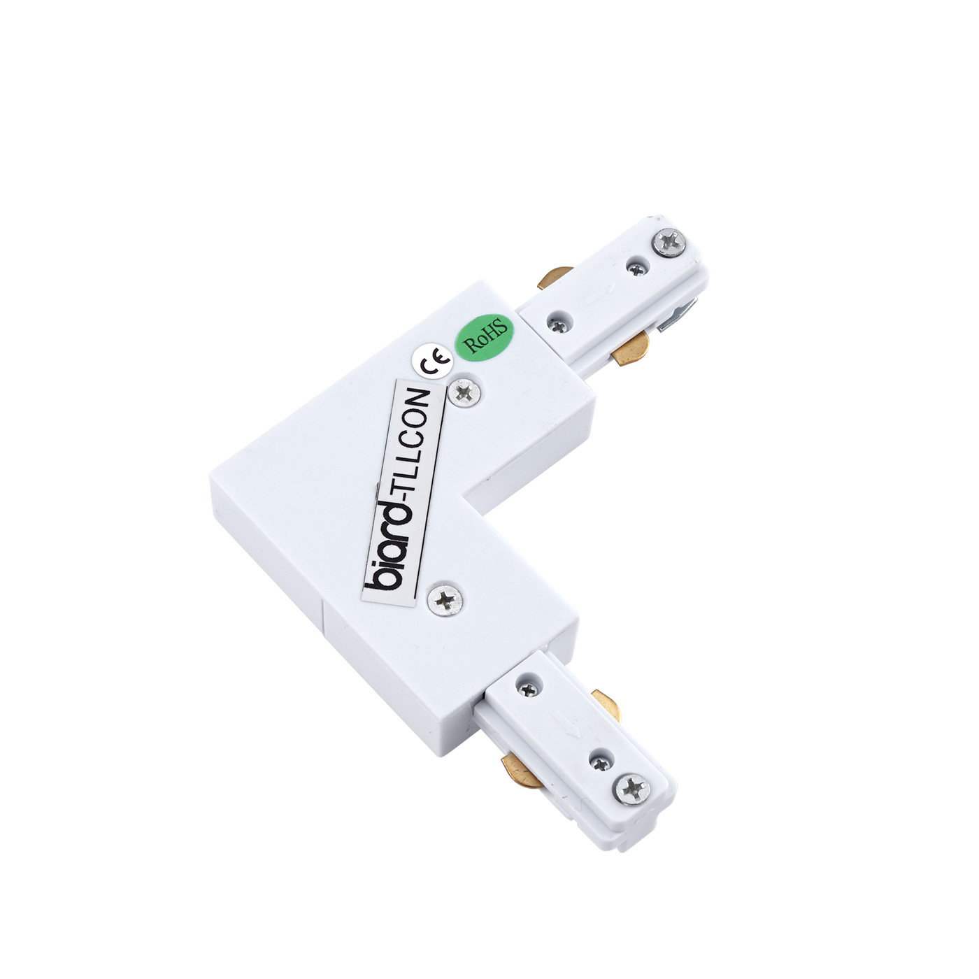 Biard L-Shaped Connector for Track Light - White