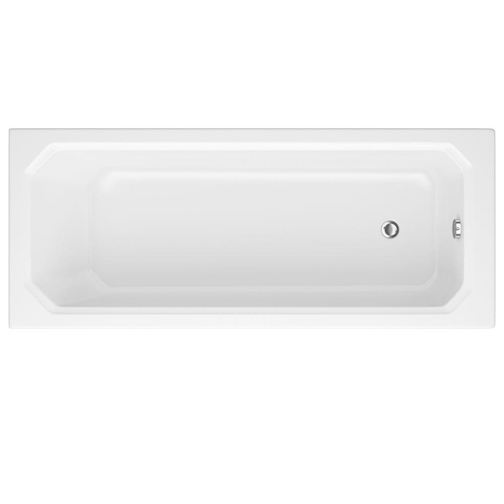 Milano Carlton - White Traditional Single Ended Standard Bath - 1700mm x 750mm