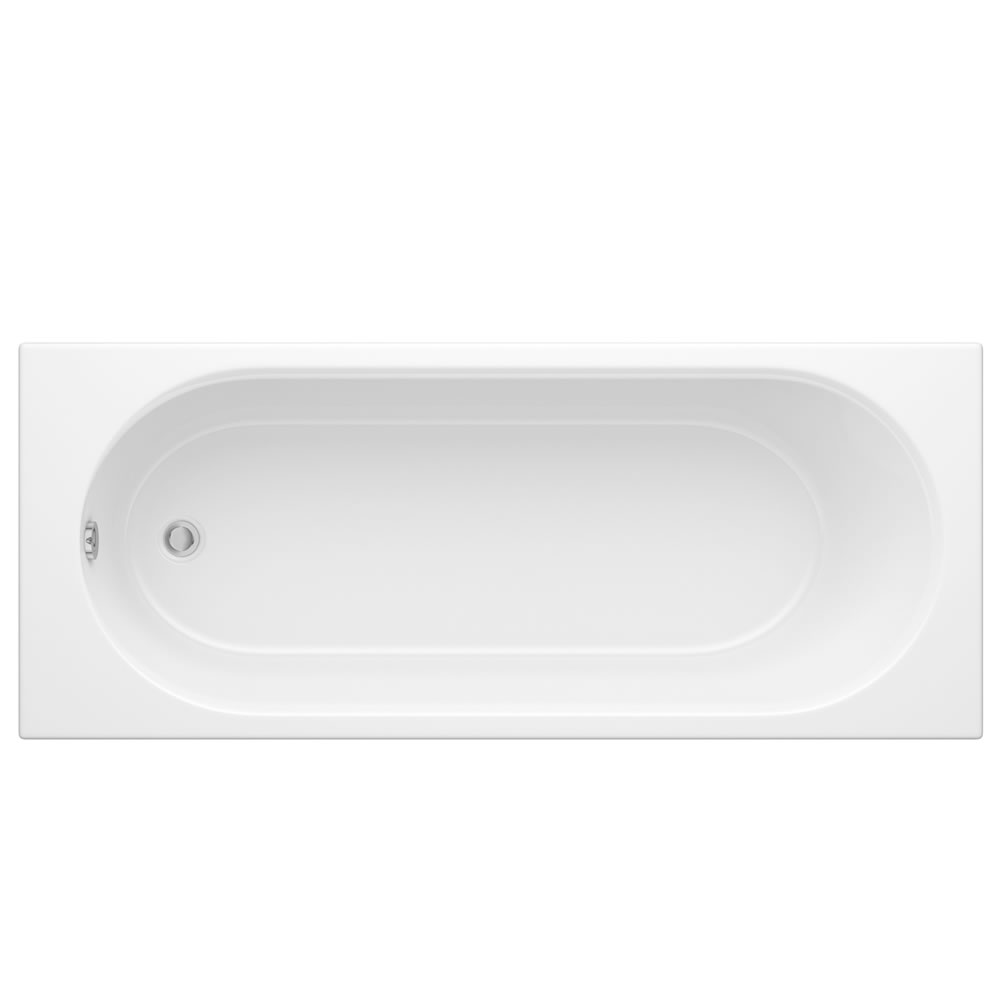 Milano - 1700mm x 700mm Round Single Ended Standard Bath with Panels