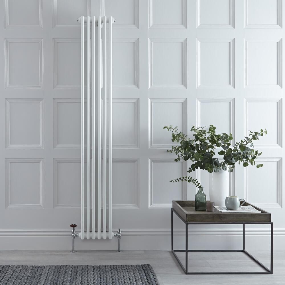 Milano Windsor - White Vertical Traditional Column Radiator - 1800mm x 290mm (Triple Column)