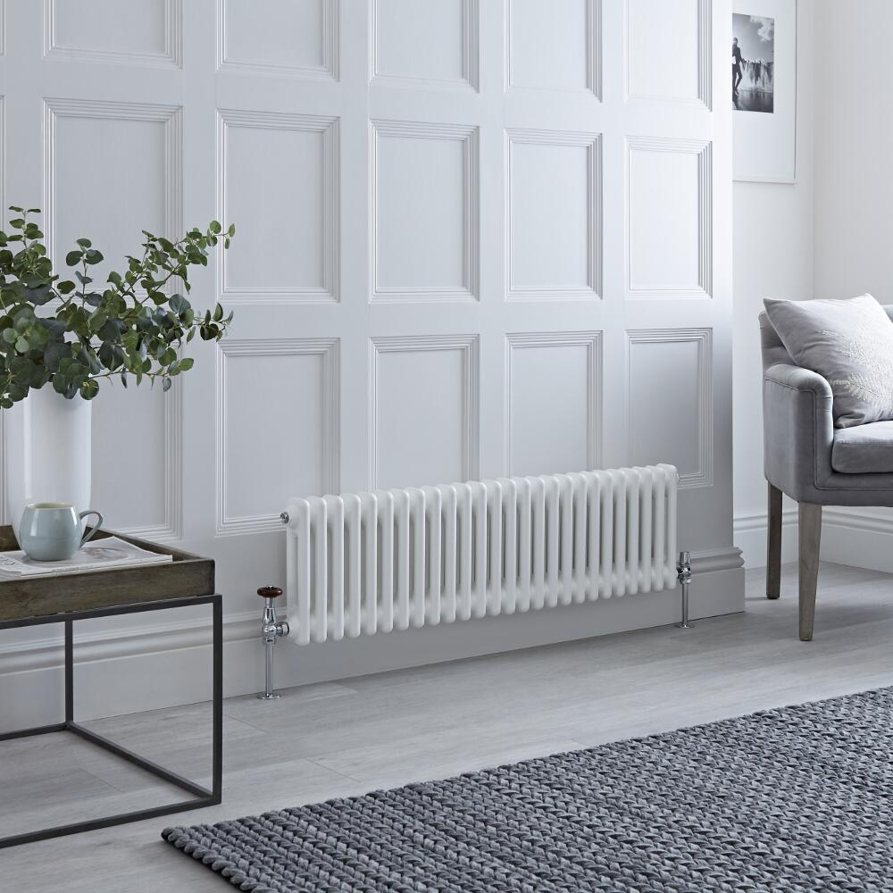 Milano Windsor - White Traditional Horizontal Column Radiator - 300mm x 1190mm (Double Column)