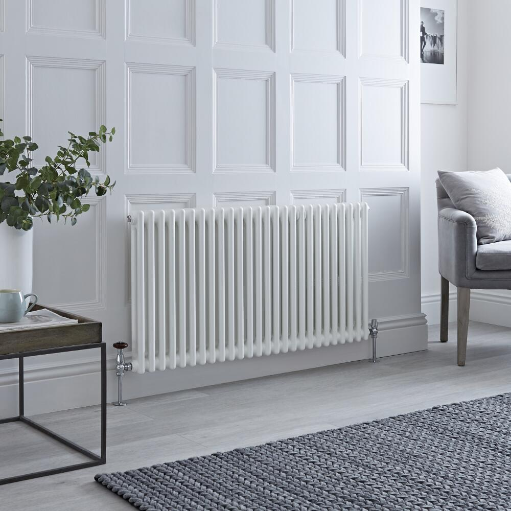 Milano Windsor - Traditional White Vertical Column Radiator - 600mm x 1193mm (Double Column)