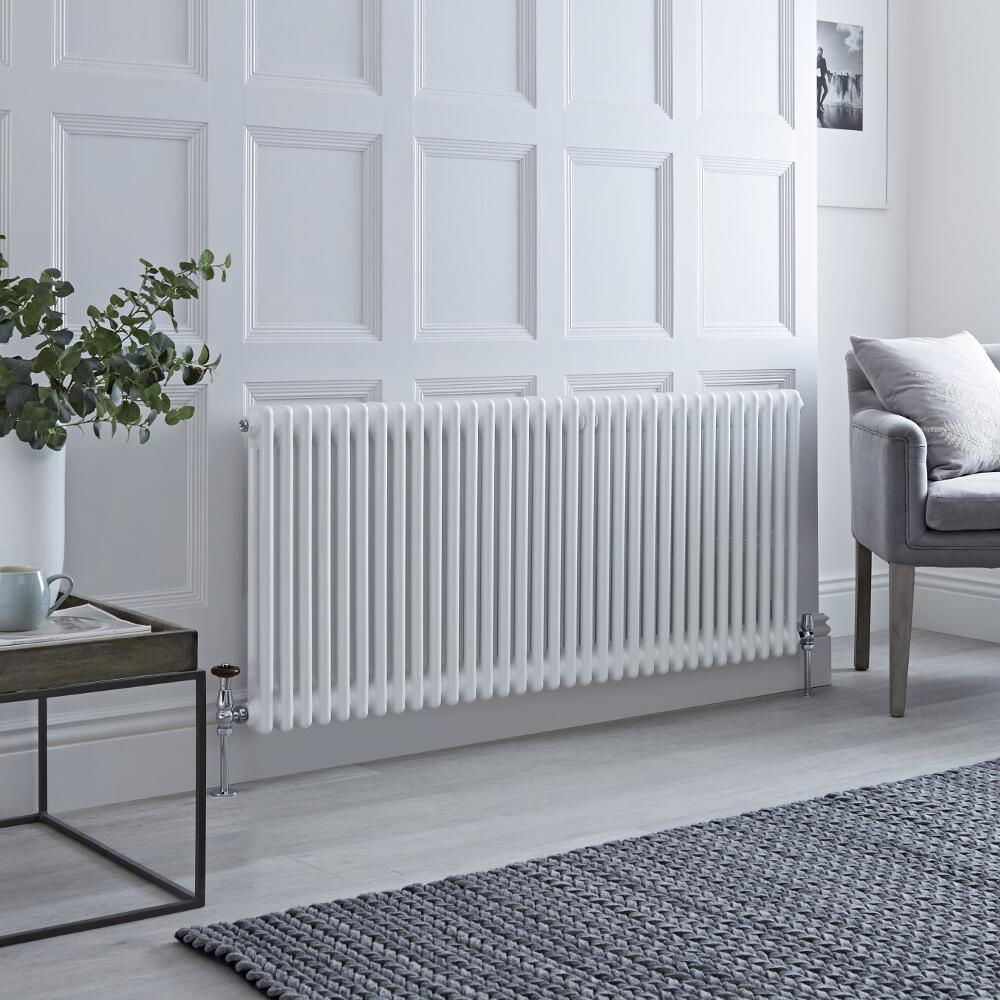 Milano Windsor - White Traditional Horizontal Column Radiator - 600mm x 1508mm (Double Column)