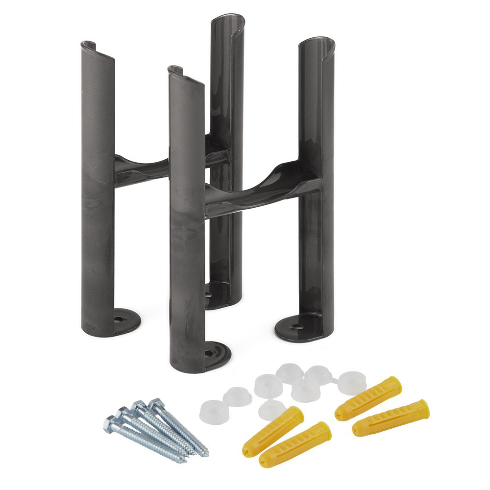 Milano Windsor - Raw Metal Floor-Mounting Feet for Traditional 3 Column Radiator
