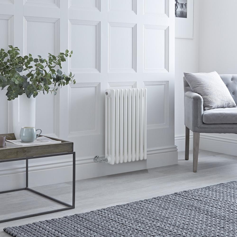 Milano Windsor - Traditional White 3 Column Electric Radiator 600mm x 405mm (Horizontal)