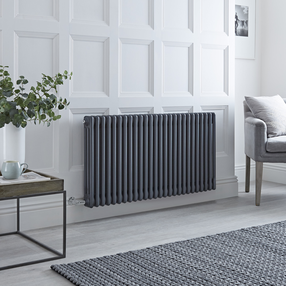 Milano Windsor - Traditional 3 Column Electric Radiator - Cast Iron Style - Anthracite 600mm x 1193mm