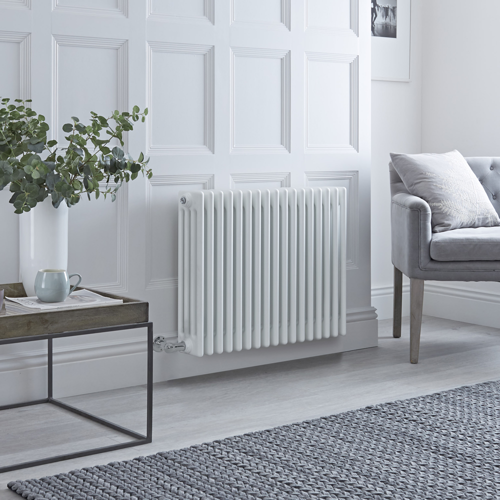 Milano Windsor - Traditional White 4 Column Electric Radiator 600mm x 765mm (Horizontal)