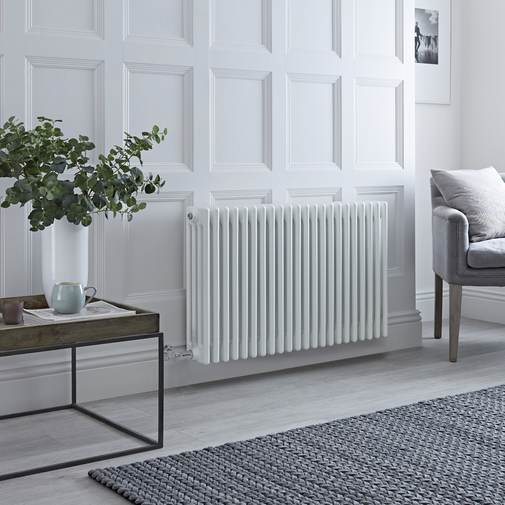 Milano Windsor - Traditional White 4 Column Electric Radiator 600mm x 990mm (Horizontal)