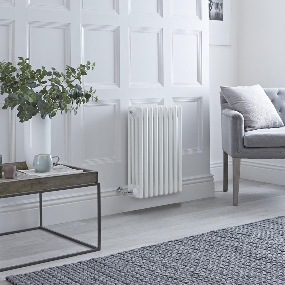 Milano Windsor - Traditional White 4 Column Electric Radiator 600mm x 405mm (Horizontal)