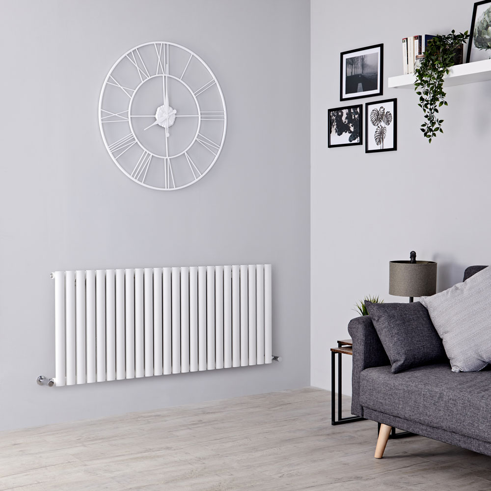 Milano Aruba - White Horizontal Designer Radiator - 600mm x 1411mm