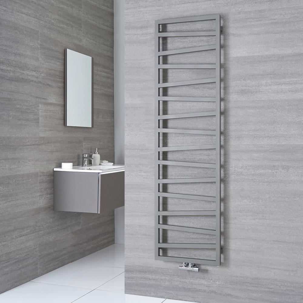 Terma ZigZag - Silver Vertical Heated Towel Rail - 1780mm x 500mm