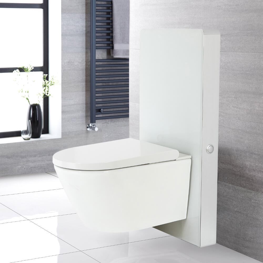 Milano Arca - White 500mm Japanese Bidet Toilet Complete WC Unit