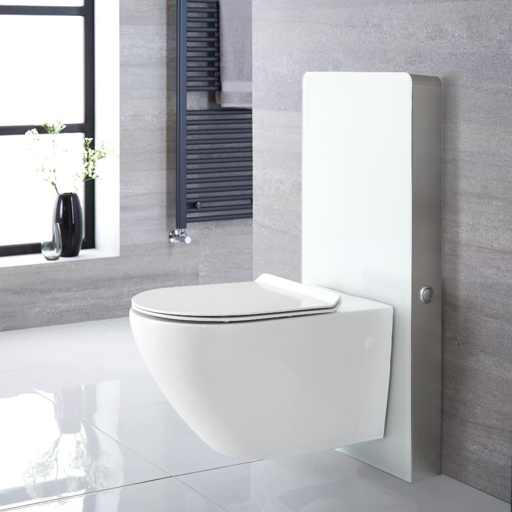 Milano Arca - White 500mm Complete WC Unit with Overton Toilet