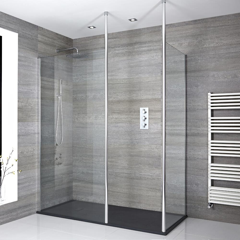 Milano Alto - Corner Walk-In Shower Enclosure with Slate Tray - Choice of Sizes
