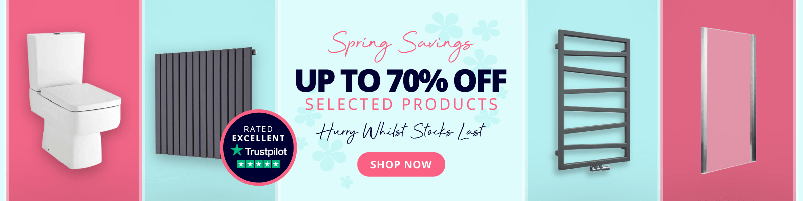 Spring Savings Up To 70% Off Selected Products Hurry Whilst Stocks Last! Shop now