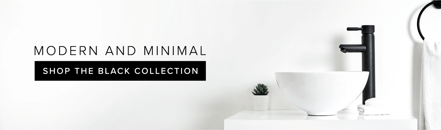 Modern and Minimal - Shop The Black Collection