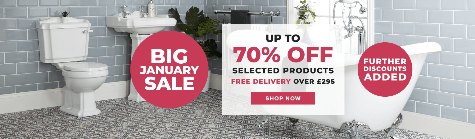 BIG JANUARY SALE UP TO 70% OFF SELECTED PRODUCTS FREE DELIVERY OVER £295 SHOP NOW - FURTHER DISCOUNTS ADDED