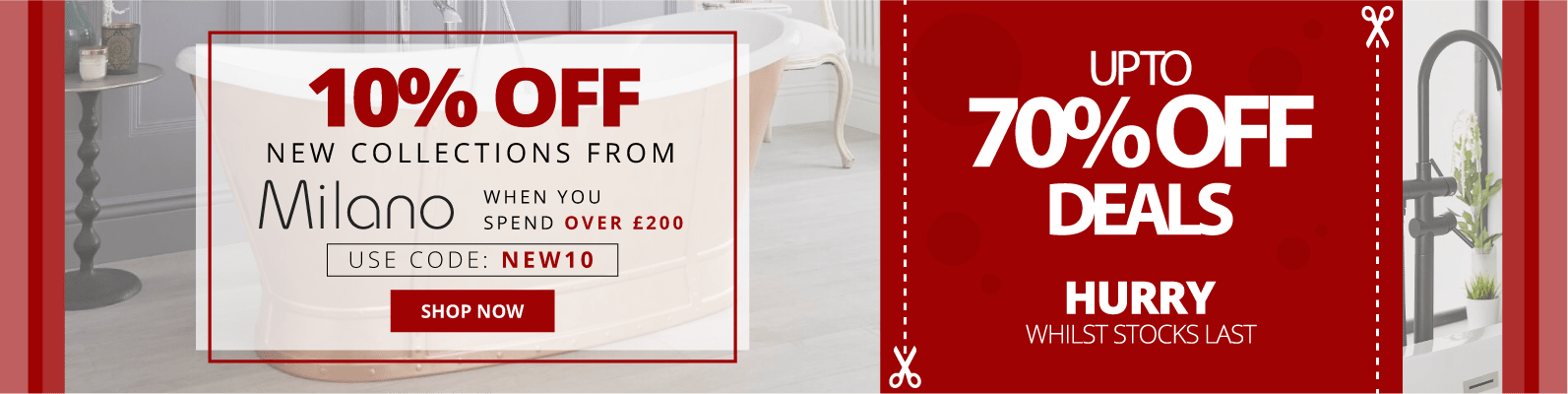 10% Off New Collections from Milano When You Spend Over £200 Use Code: NEW10 Shop Now Up To 70% Off Deals Hurry Whilst Stocks Last!