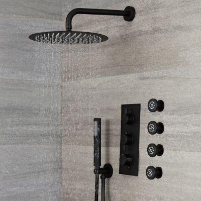 Black Concealed Showers