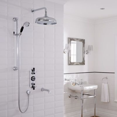 Traditional Showers with Bath Filler