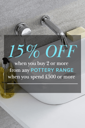 15% off bathroom pottery