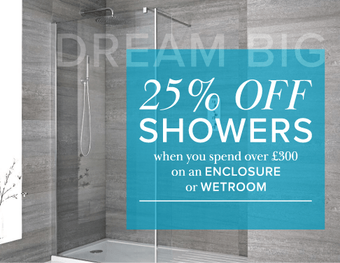 25% off showers